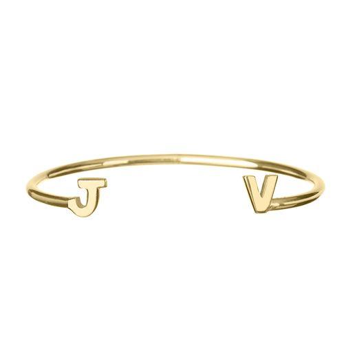 Bracelete-Letra-Ouro
