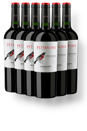 Kit-com-6-Vinhos-Tintos-Bisquertt-Petirrojo-Reserva-Cabernet-Sauvignon-2018