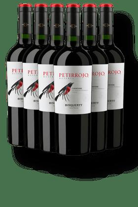 Kit-com-6-Vinhos-Tintos-Bisquertt-Petirrojo-Reserva-Carmenere-2019