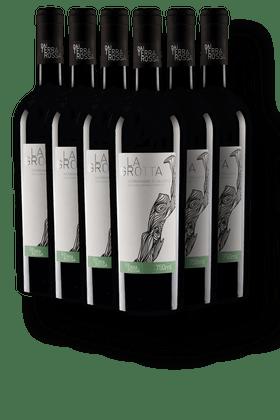 Kit-com-6-Vinhos-Tintos-Dai-Terra-Rossa-La-Grotta-Negroamaro-di-Salento-IGP-2018